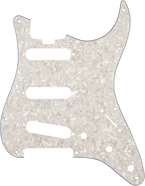 Genuine Fender Pickguard Elite Strat SSS Shell 4-Ply