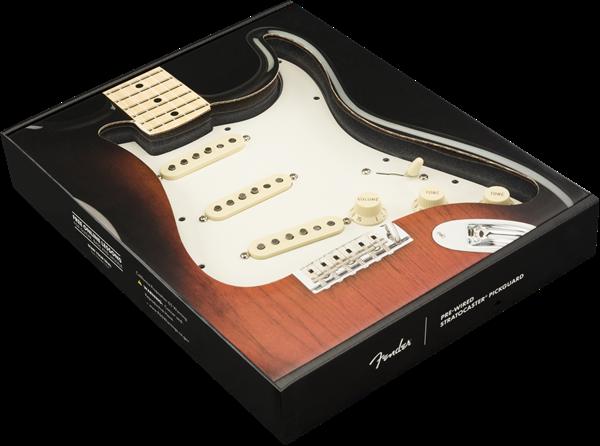 NEW Fender Stratocaster LOADED PICKGUARD Strat Tex Mex Black 3 Ply 11 Hole