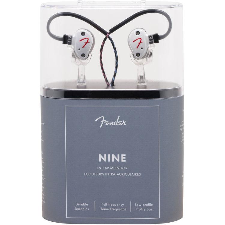 Genuine FENDER IEM Nine Personal In-Ear Monitoring Headphones OLYMPIC WHITE