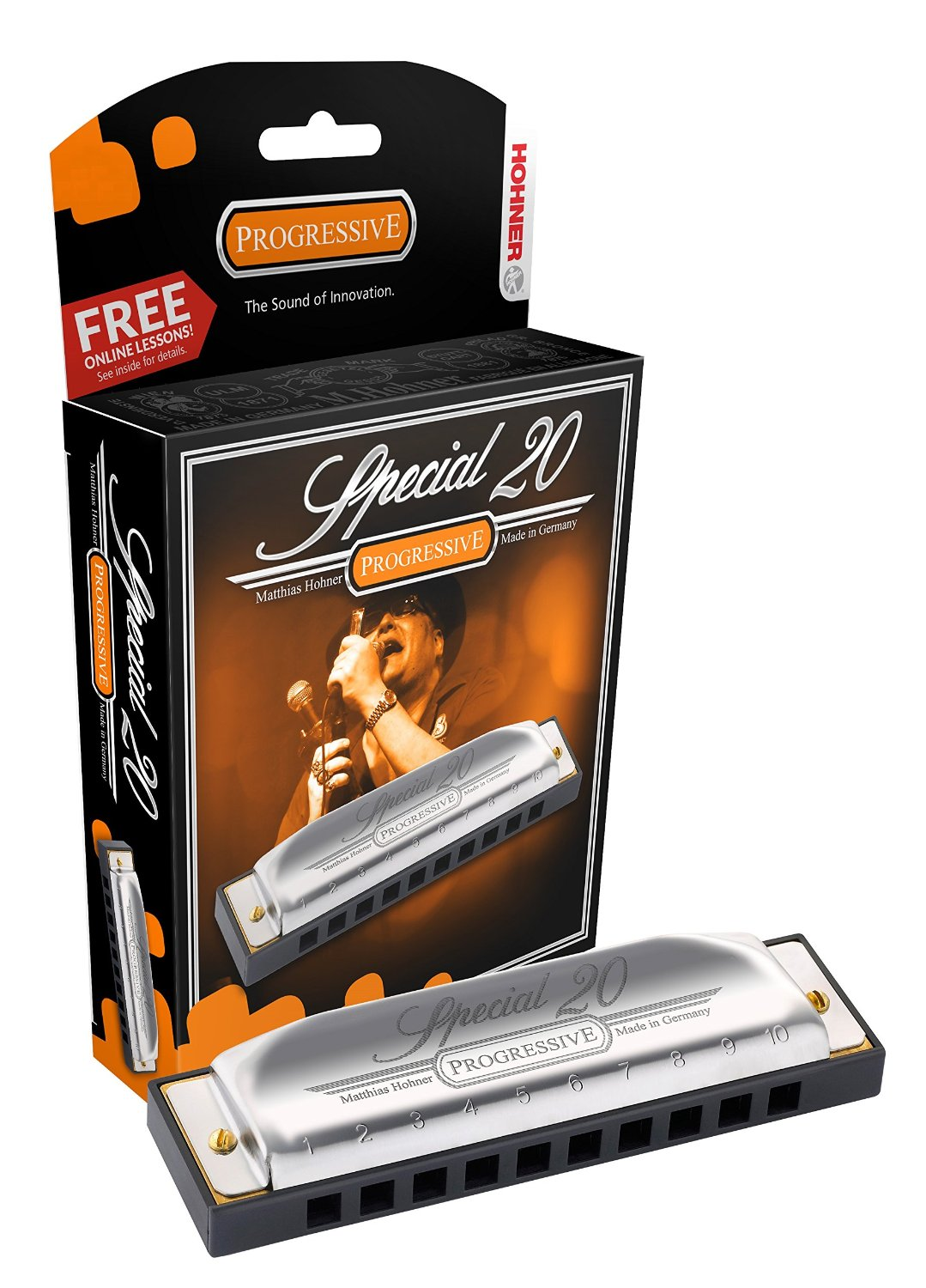 Hohner Special 20 Progressive Harmonica in the Key Of D German Made Quality