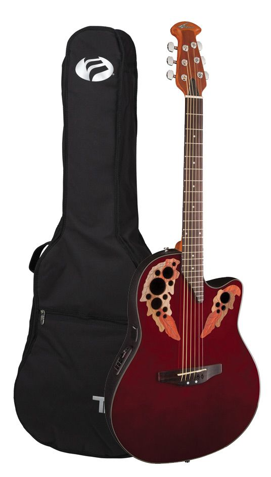 Ovation Applause Elite Acoustic Electric Guitar Ruby Red