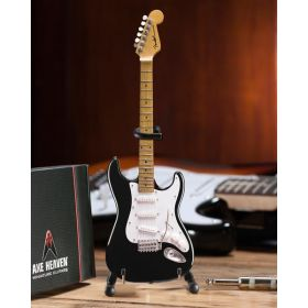 AXE HEAVEN Official Black Fender Strat Classic MINIATURE Guitar Display Gift
