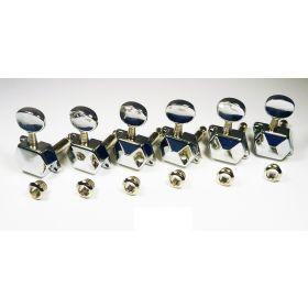 Genuine Fender Squier Old Style '99 - '06 Affinity Strat Chrome Tuners Keys Set
