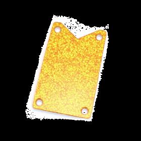 Genuine Gretsch Truss Rod Cover, Falcon Models, Gold Sparkle 006-0904-000