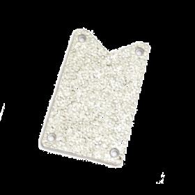 Genuine Gretsch Truss Rod Cover, Silver Falcon, Silver Sparkle, 006-2646-000