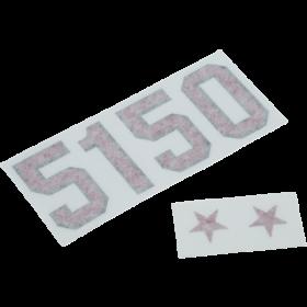 Official 5150 Red Holographic Prism Guitar Decal Sticker Set EVH Eddie Van Halen