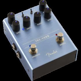 "Genuine Fender ""Tre-Verb"" Tremolo/Reverb Guitar Effect Stomp Box Pedal"