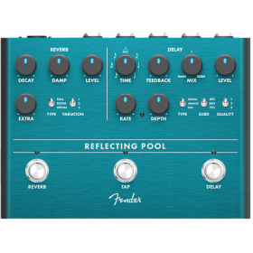 Fender Reflecting Pool Delay/Reverb Analog Guitar Effects Stomp Box Pedal