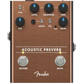 Fender ACOUSTIC PREVERB Guitar Preamp and Reverb Effect Pedal - 023-4548-000