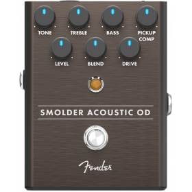 Fender Smolder Acoustic Overdrive Analog Guitar Effects Stomp Box Pedal