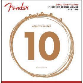 Genuine Fender 860XL Phosphor Bronze DuraTone Acoustic Guitar Strings 10-48