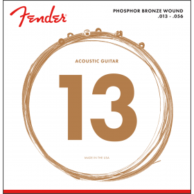 Fender 60M Phosphor Bronze Acoustic Guitar Strings, MEDIUM 13-56