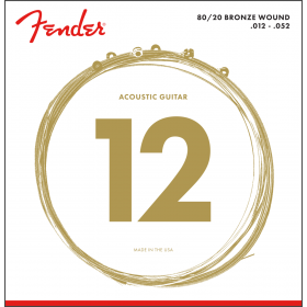 Fender 70L 80/20 Bronze Acoustic Guitar Strings - LIGHT 12-52