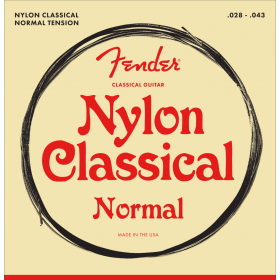 Fender 100 Clear Nylon Tie End Classical Guitar Strings - MEDIUM 28-43