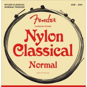 Fender 130 Nylon Ball End Folk Acoustic Guitar Strings Set - MEDIUM 28-43
