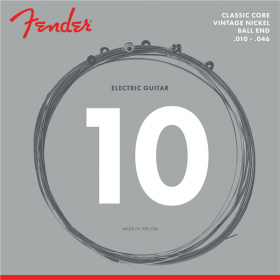 Fender 155R Classic Core Electric Guitar Strings, Vintage Nickel Ball End 10-46