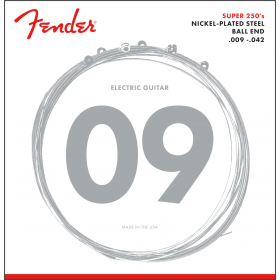 Fender Super 250L Nickel-Plated Steel Electric Guitar Strings Set - LIGHT 9-42