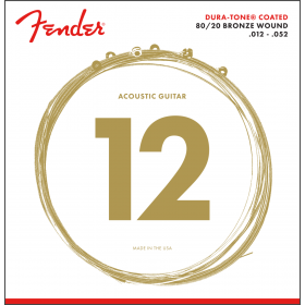 Fender 880L Dura-Tone Coated Acoustic Guitar Strings - LIGHT 12-52