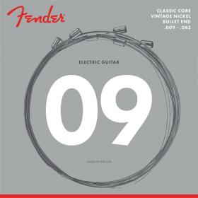 Fender 3155L Classic Electric Guitar Strings, Vintage Nickel, Bullet Ends 9-42