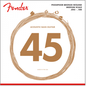 Fender 7060 MEDIUM-SCALE Phosphor Bronze Acoustic Bass Strings - REGULAR 45-100