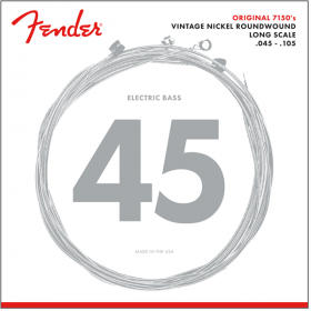 Fender 7150M Pure-Nickel Roundwound Bass Strings, Long-Scale MEDIUM 45-105