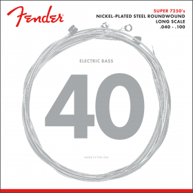 Fender 7250L NPS Roundwound Electric Bass Strings, Long-Scale LIGHT 40-100