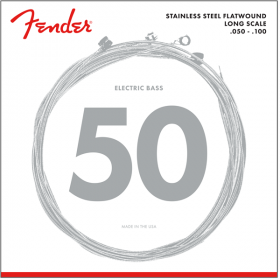 Fender 9050ML Stainless Flatwound Bass Strings, Long Scale MED LIGHT 50-100