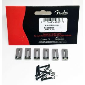Genuine Fender American Standard Satin Chrome Strat/Tele OFFSET Bridge Saddles