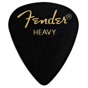 Fender 351 Classic Celluloid Guitar Picks - BLACK - HEAVY - 144-Pack (1 Gross)