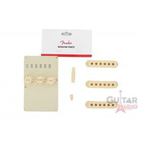 Genuine Fender Stratocaster Accessory Kit Back Plate, Knobs, Covers - Aged White