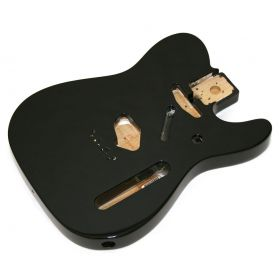 Genuine Fender Mexico Tele/Telecaster SS Alder Body Vintage Bridge Mount - BLACK