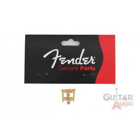 Genuine Fender Original Stratocaster Strat Guitar String Guides - Gold w/ Screws