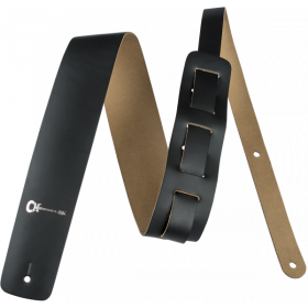 """Charvel Logo 2"""" Leather Adjustable Guitar Strap, Black"""