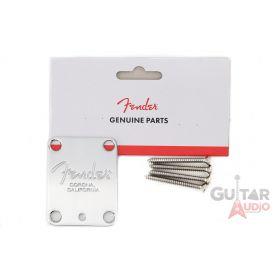 Genuine Fender AM/American Series Corona Neck Plate with Microtilt - Chrome