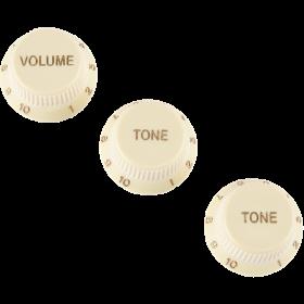 Genuine Fender SOFT TOUCH Stratocaster/Strat AGED WHITE Volume/Tone Guitar Knobs