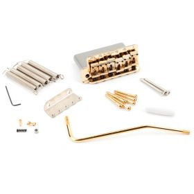 Genuine Fender American Vintage `62/SRV LEFT-HANDED Strat Bridge Assembly - GOLD