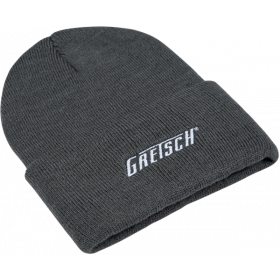 Genuine Gretsch Guitars Embroidered Logo Beanie Hat, Gray, One Size fits Most