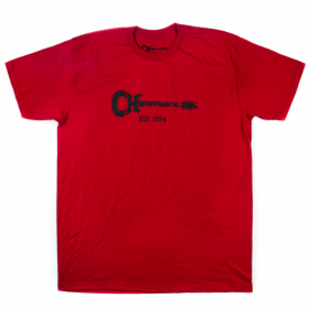 Charvel Guitar Logo Men's T-Shirt Gift, Red, XL (EXTRA LARGE)
