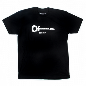 Charvel Guitar Logo Men's T-Shirt Gift, Black, XL (EXTRA LARGE)