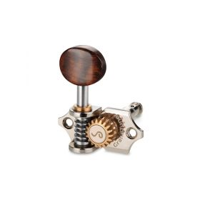 Genuine Schaller Germany 3x3 Nickel Grand Tune Tuners, Snakewood Buttons