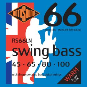 Rotosound Swing Bass Nickel Roundwound Bass Strings - RS66LN, LIGHT 45-100