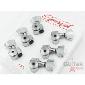 Sperzel 3x3 Trimlok 3 Per Side Locking Guitar Tuners 3+3 Keys - CHROME PLATED