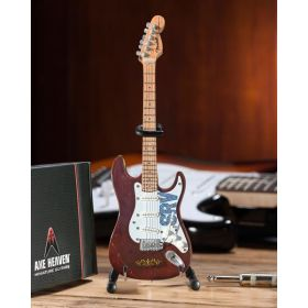 AXE HEAVEN Official Fender Strat Signature SRV Lenny MINIATURE Guitar Display