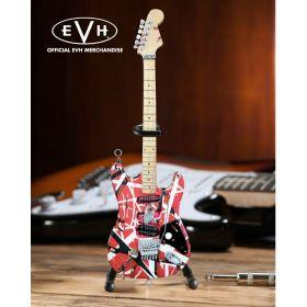 """AXE HEAVEN EVH """"Frankenstein"""" Eddie Van Halen MINIATURE Guitar Display Gift"""