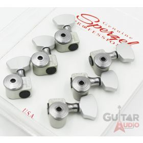Sperzel 3x3 EZ-MOUNT/NO DRILLING Trimlok Locking Guitar Tuners - SATIN CHROME