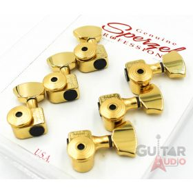 Sperzel 3x3 EZ-MOUNT/NO DRILLING Trimlok Locking Guitar Tuners - GOLD PLATED