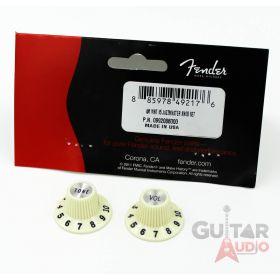 Genuine Fender '65 American Vintage Jazzmaster Hat Knobs Pair Set - 099-2086-000