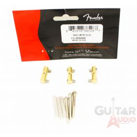 (Set of 3) Genuine Fender Compensated Brass Saddles Vintage Telecaster/Tele