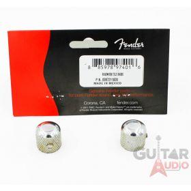 Genuine Fender Road Worn/Relic Aged Telecaster/Tele Chrome Metal Dome Knobs (2)