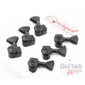 Sperzel 3x3 STEP BUTTON Trimlok 3-Per-Side Locking Guitar Tuners - BLACK